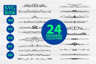 Divider Collections, 24 Text Divider Graphic By svgBank