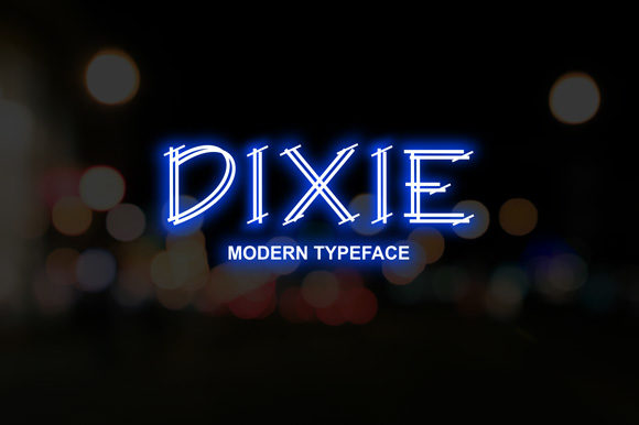 Print on Demand: Dixie Display Font By rohmatsidiq9
