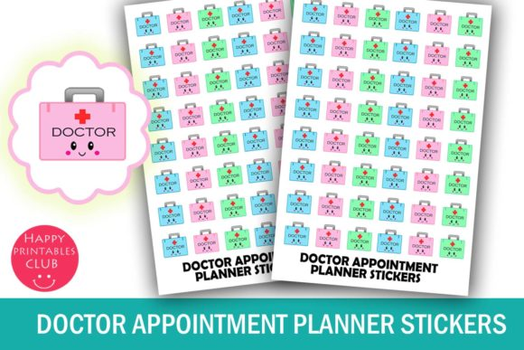 Download Free Doctor Appointment Planner Stickers Graphic By Happy for Cricut Explore, Silhouette and other cutting machines.