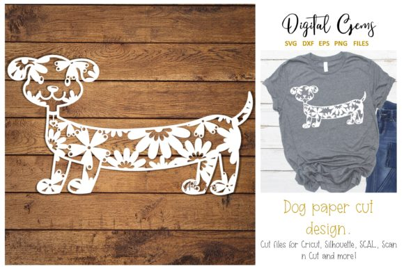 Dog Paper Cut Design Graphic By Digital Gems
