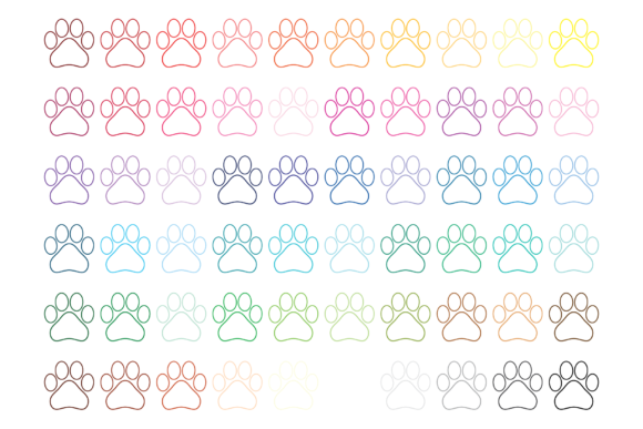 Print on Demand: Dog Paw Print Clip Art Graphic Objects By Running With Foxes - Image 4