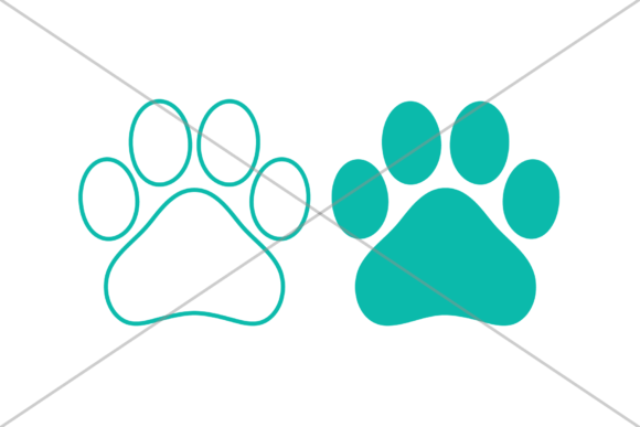 Print on Demand: Dog Paw Print Clip Art Graphic Objects By Running With Foxes - Image 6