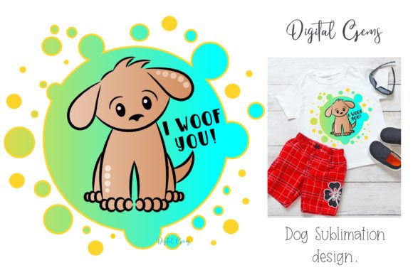Dog Sublimation Graphic By Digital Gems