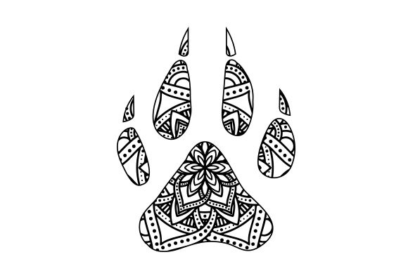 Download Free Dog Paw Print Mandala Svg Cut File By Creative Fabrica Crafts for Cricut Explore, Silhouette and other cutting machines.