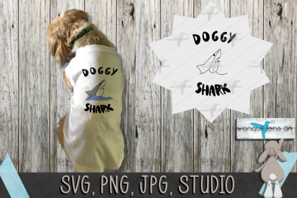 Print on Demand: Doggy Shark Gráfico Crafts Por Tranquil Lens Art