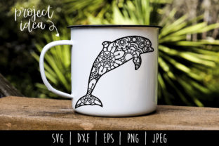 Dolphin Mandala Zentangle Graphic By SavoringSurprises