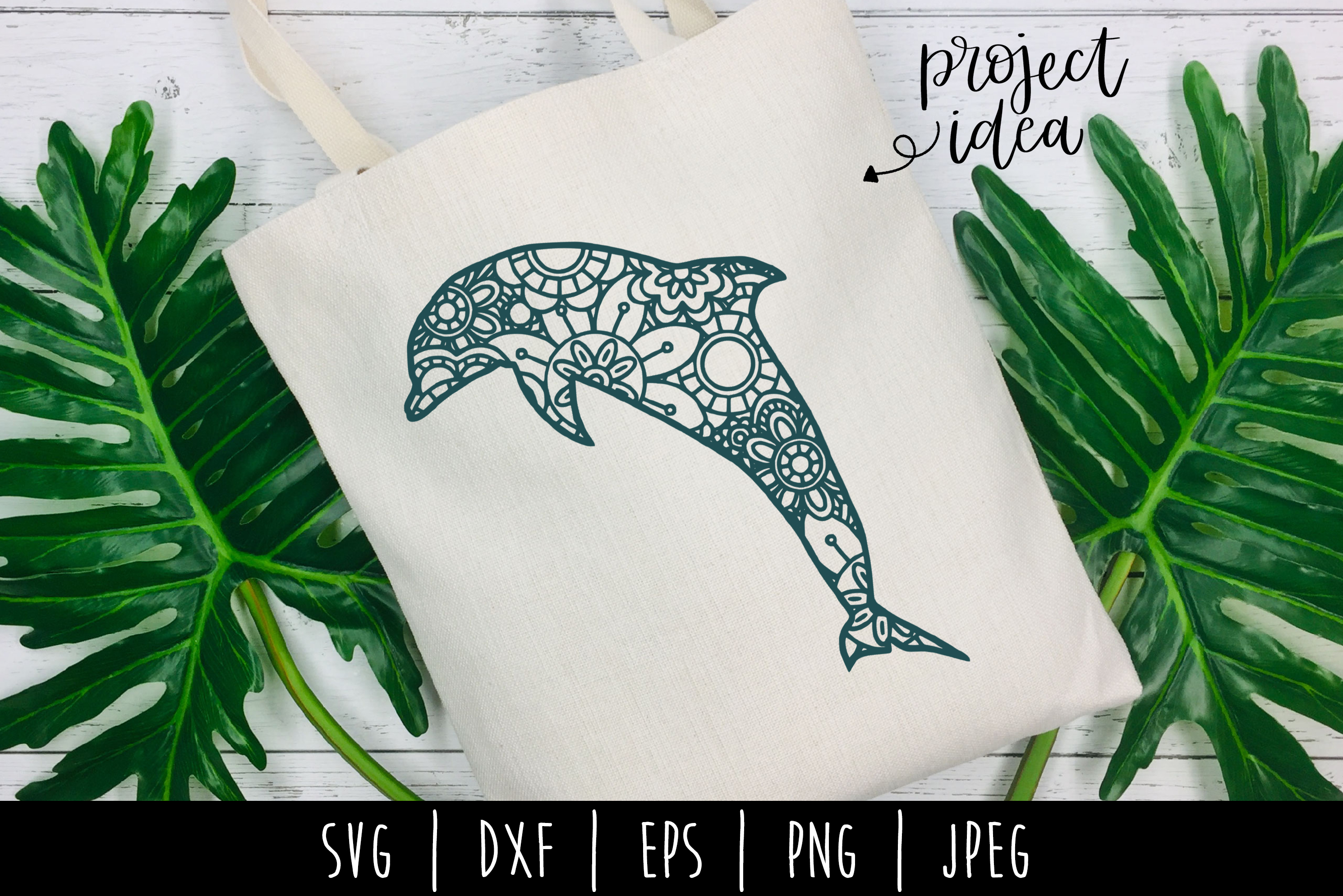 Download Free Dolphin Mandala Zentangle Graphic By Savoringsurprises for Cricut Explore, Silhouette and other cutting machines.