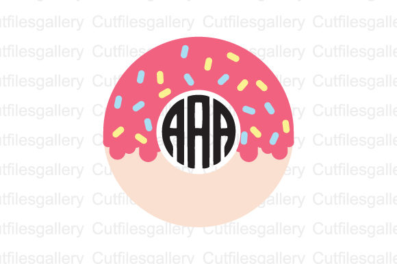 Download Free Donut Monogram Graphic By Cutfilesgallery Creative Fabrica for Cricut Explore, Silhouette and other cutting machines.