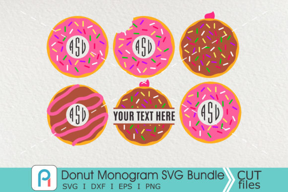 Donut Monogram Svg, Donut Svg, Donut Dxf Graphic Crafts By Pinoyartkreatib