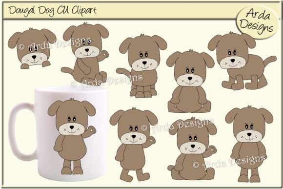 Print on Demand: Dougal Dog CU Clipart Graphic Illustrations By Arda Designs