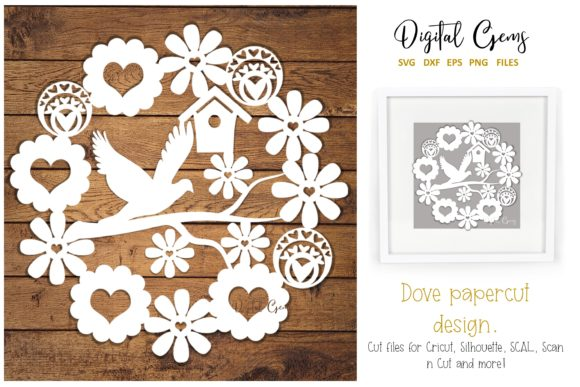 Dove Paper Cut Design Graphic By Digital Gems