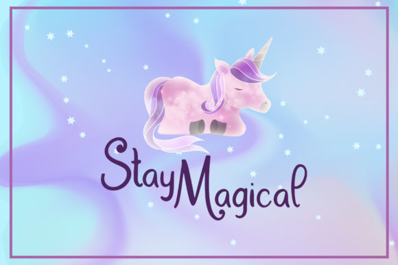 Print on Demand: Dream Unicorn Script & Handwritten Font By dmletter31 - Image 2