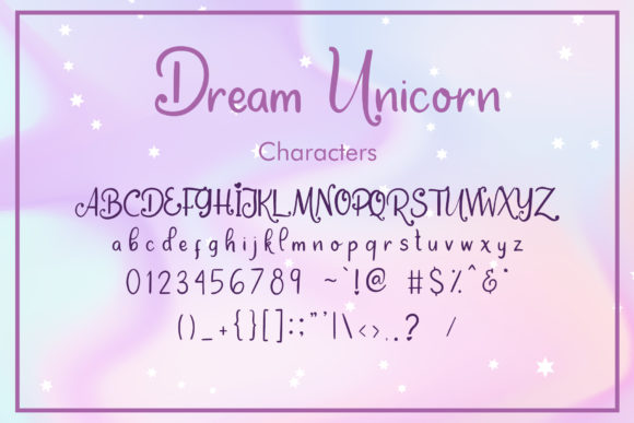 Print on Demand: Dream Unicorn Script & Handwritten Font By dmletter31 - Image 6