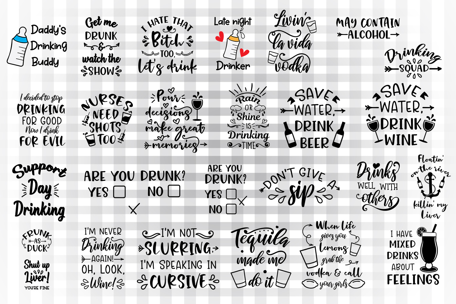 Download Free Drinking Bundle Graphic By Illustrator Guru Creative Fabrica for Cricut Explore, Silhouette and other cutting machines.