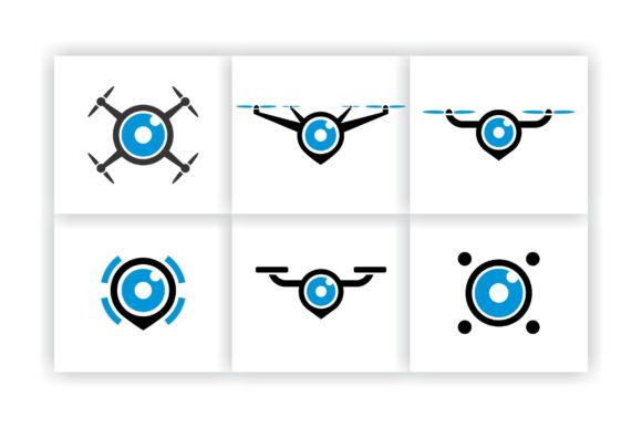 Drone Logo Icon Pack Graphic Logos By ZHR Creative - Image 3