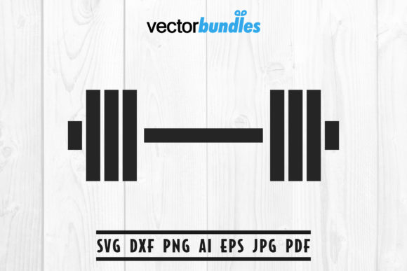 Download Free Dumbbell Clip Art Svg Graphic By Vectorbundles Creative Fabrica for Cricut Explore, Silhouette and other cutting machines.