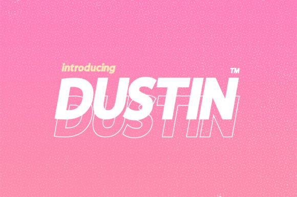 Print on Demand: Dustin Family Sans Serif Font By Salt & Pepper Designs