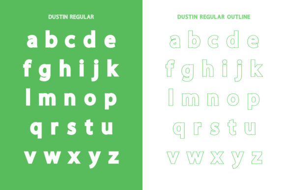 Print on Demand: Dustin Family Sans Serif Font By Salt & Pepper Designs - Image 9