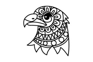 Eagle Head. Mandala Line Art Style (for Coloring Book) Craft Design By Creative Fabrica Crafts