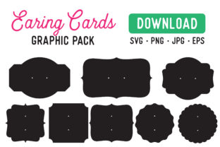 Print on Demand: Earring Card Display Stencil Graphic Product Mockups By The Gradient Fox