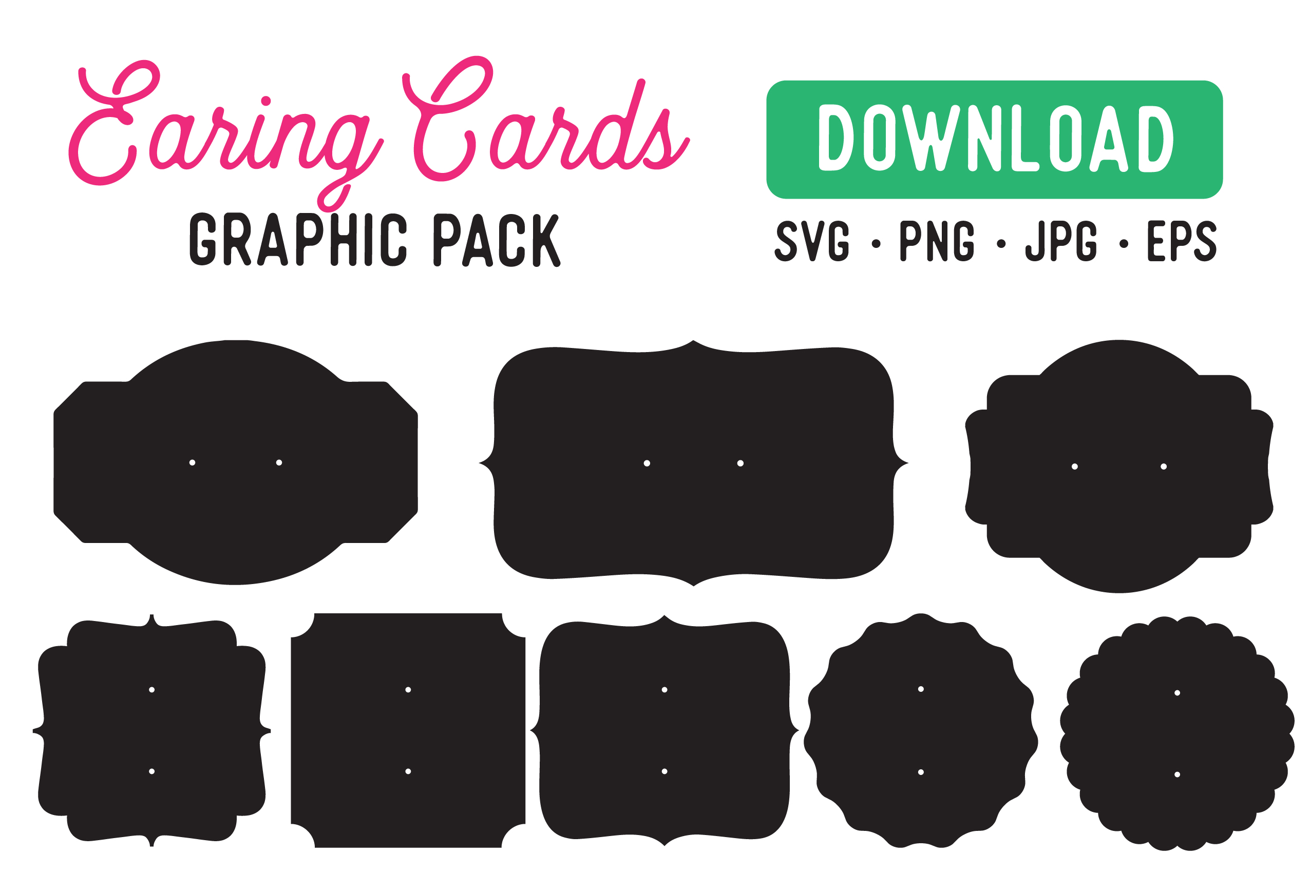 Download Free Earring Card Display Stencil Graphic By The Gradient Fox for Cricut Explore, Silhouette and other cutting machines.