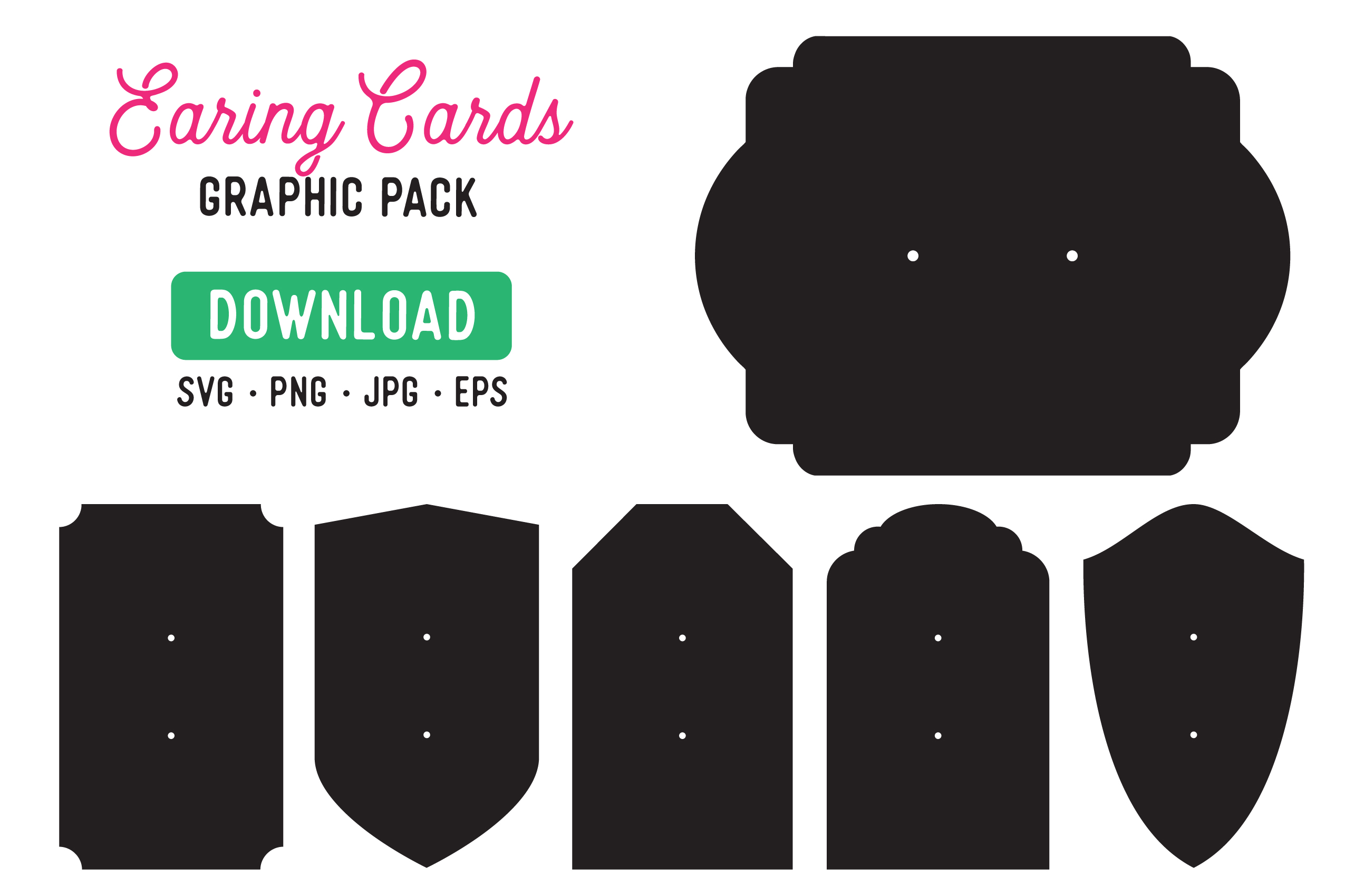 Download Free Earring Holder Display Cards Graphic By The Gradient Fox for Cricut Explore, Silhouette and other cutting machines.