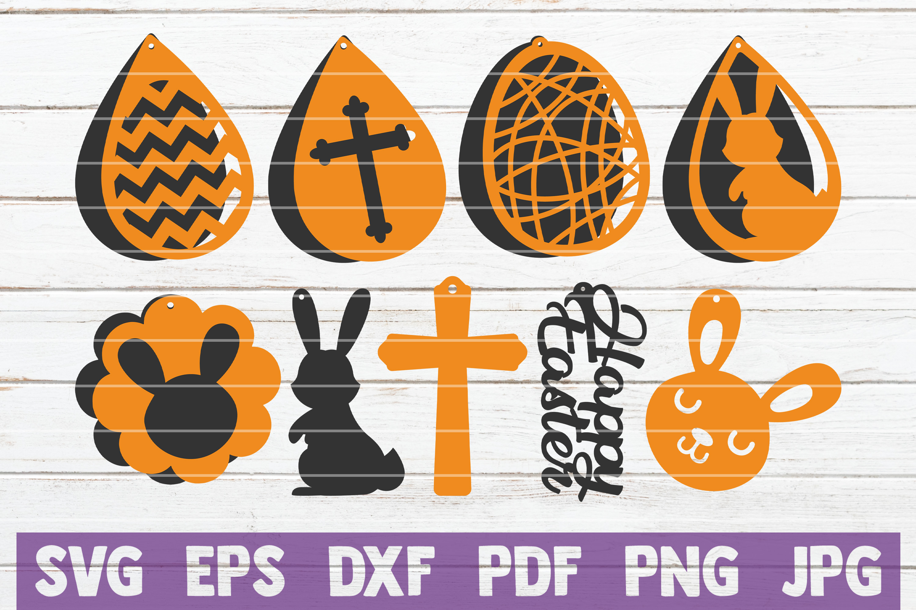 Download Free Easter Earrings Bundle Graphic By Mintymarshmallows Creative for Cricut Explore, Silhouette and other cutting machines.
