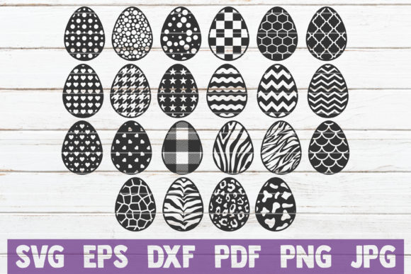 Download Free Easter Eggs Bundle Cut Files Graphic By Mintymarshmallows for Cricut Explore, Silhouette and other cutting machines.