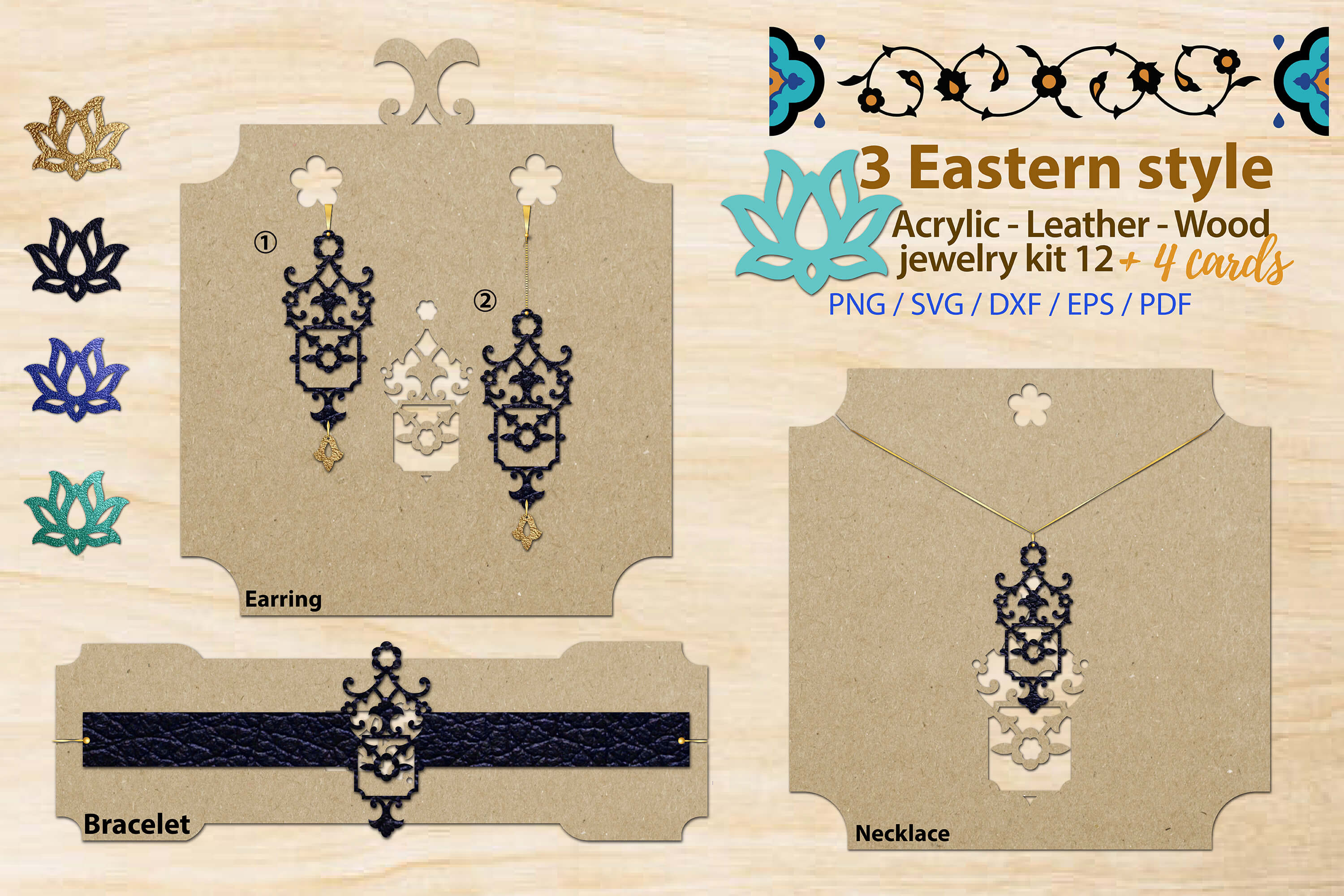 Eastern Style Jewelry Kit 12 Graphic By 3motional Creative Fabrica
