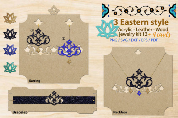 Print on Demand: Eastern Style Jewelry Kit 13 Graphic Illustrations By 3Motional