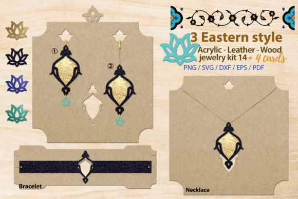Print on Demand: Eastern Style Jewelry Kit 14 Graphic Illustrations By 3Motional