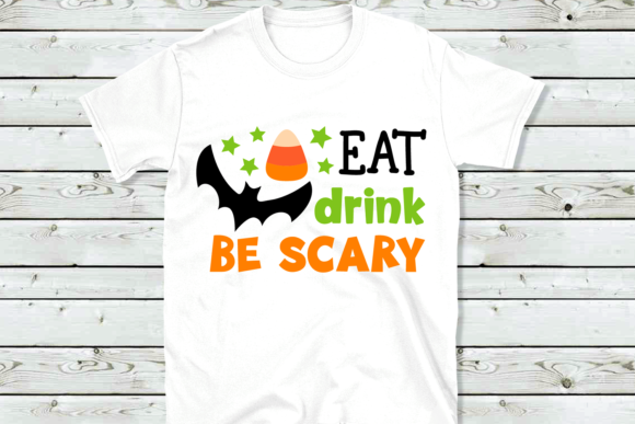 Download Free Eat Drink Be Scary Svg Graphic By Vr Digital Design Creative for Cricut Explore, Silhouette and other cutting machines.