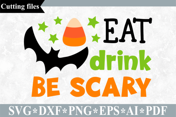 Eat Drink Be Scary SVG Graphic Crafts By VR Digital Design