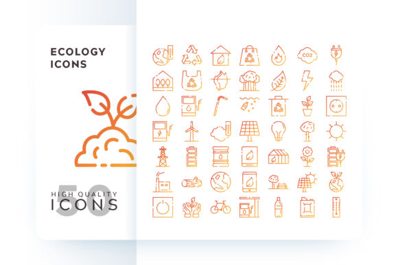 Ecology Icons Graphic By Goodware.Std
