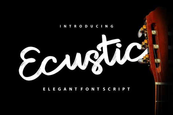 Print on Demand: Ecustic Script & Handwritten Font By Vunira
