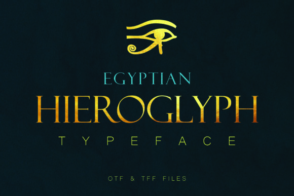 Print on Demand: Egyptian Hieroglyph Dingbats Font By denestudios