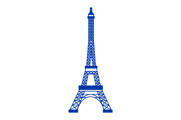 Eiffel Tower France Craft Cut File By Creative Fabrica Crafts - Image 1