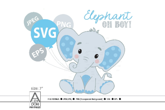 Print on Demand: Elephant File  Graphic Print Templates By adlydigital