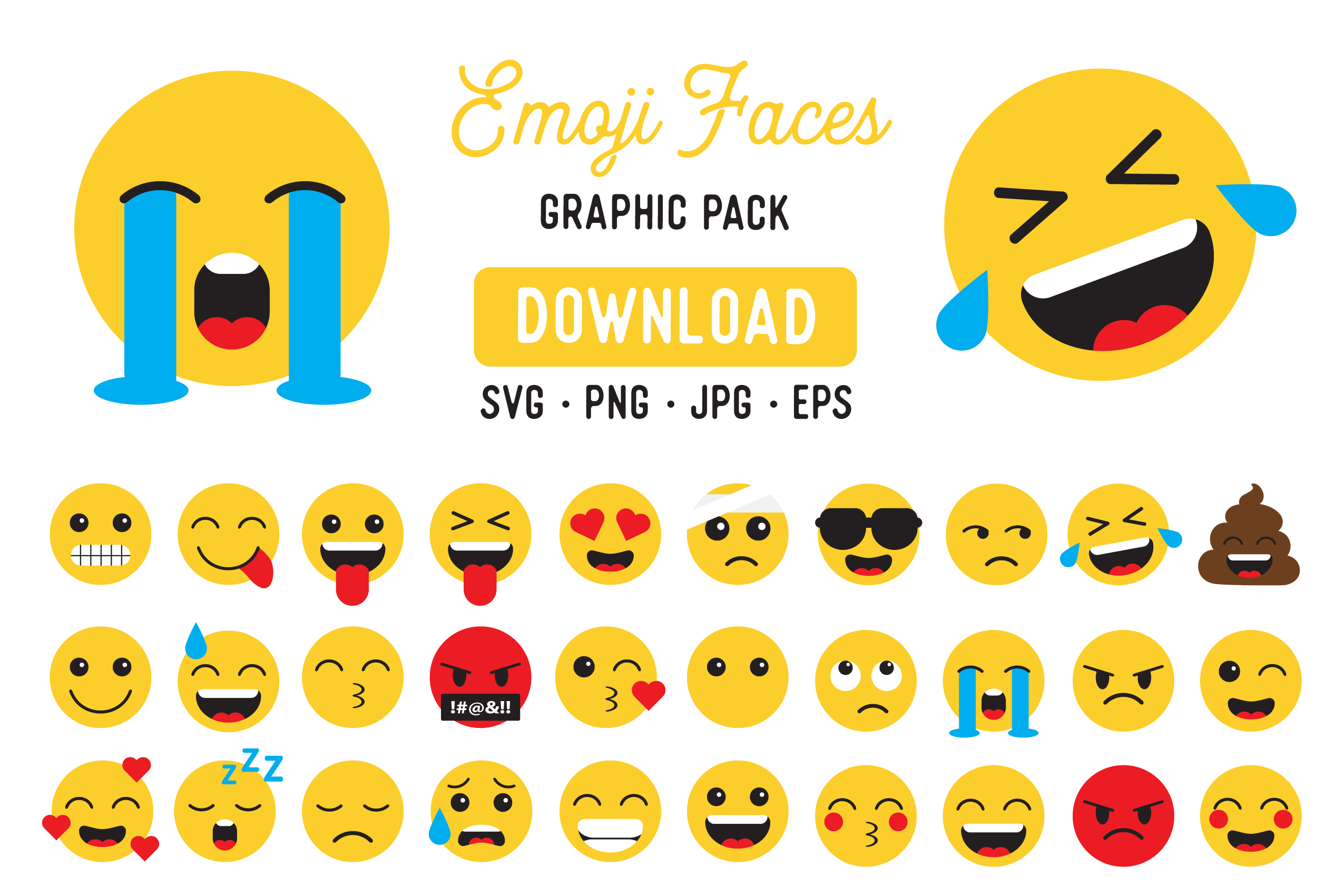 Download Free Emoji Vector Clipart Pack Graphic By The Gradient Fox Creative for Cricut Explore, Silhouette and other cutting machines.