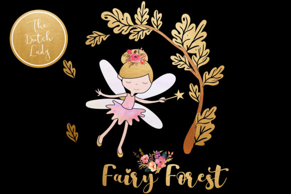 Print on Demand: Enchanted Fairy Forest Clipart Set Graphic Illustrations By daphnepopuliers - Image 2