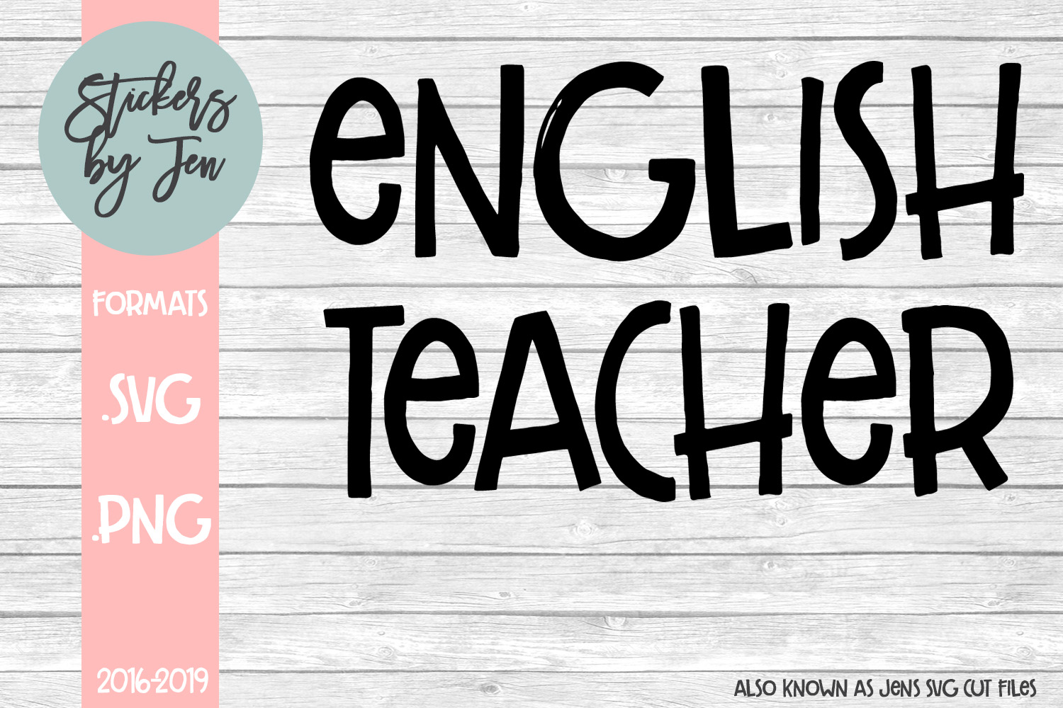 Download Free English Teacher Graphic By Stickers By Jennifer Creative Fabrica for Cricut Explore, Silhouette and other cutting machines.