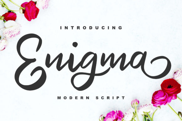 Print on Demand: Enigma Script & Handwritten Font By Vunira