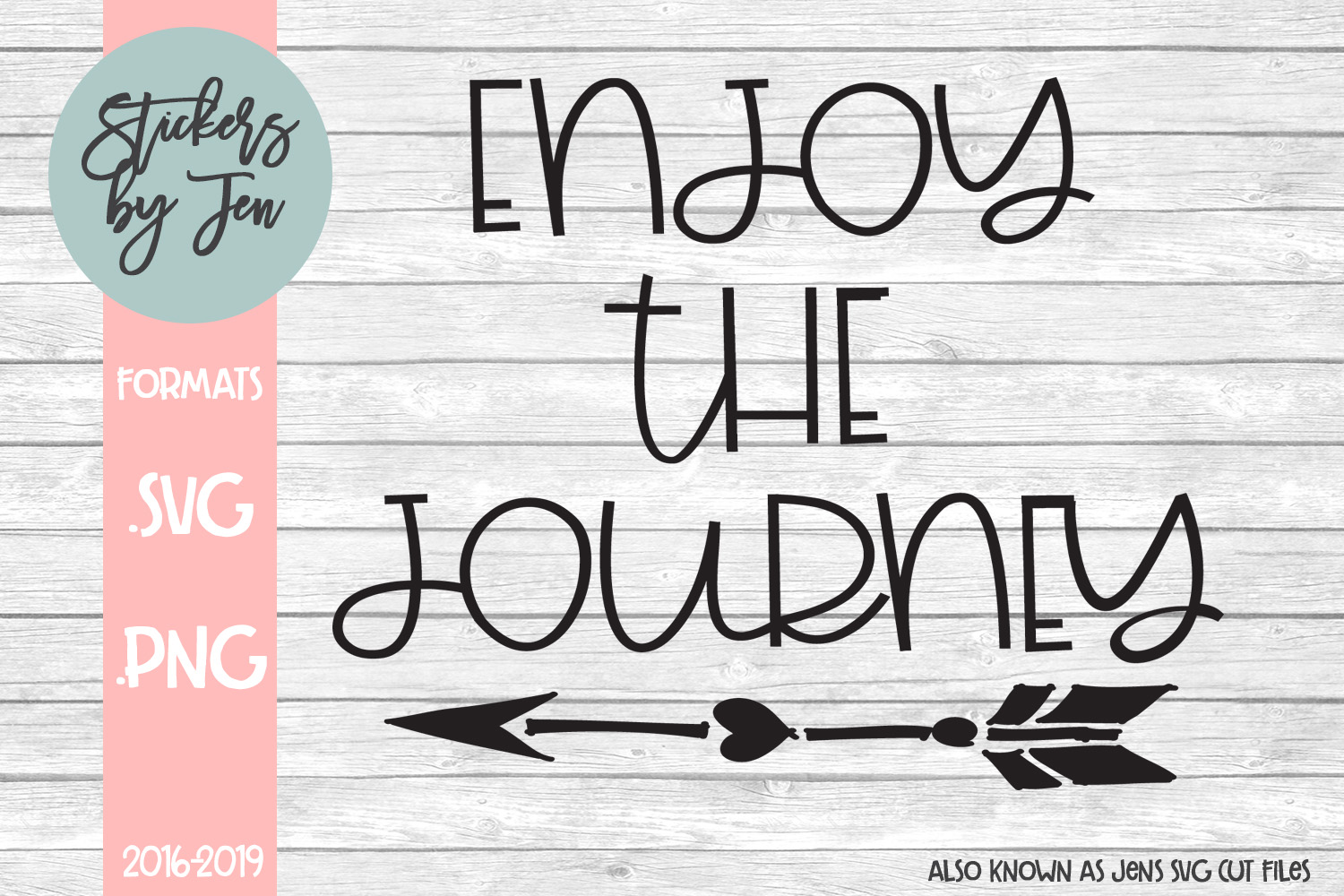 Download Free Enjoy The Journey Svg Graphic By Stickers By Jennifer Creative for Cricut Explore, Silhouette and other cutting machines.