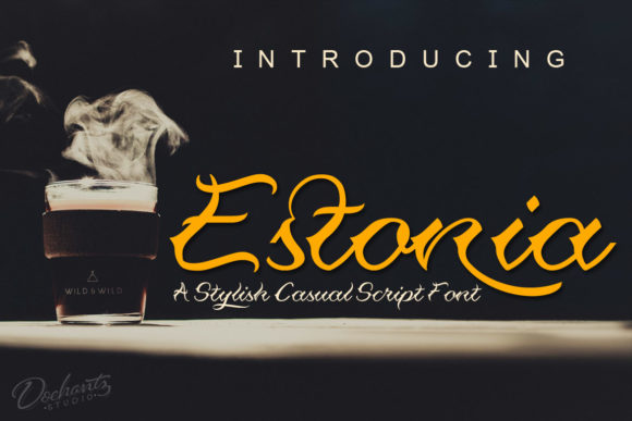 Print on Demand: Estonia Script & Handwritten Font By Doehantz Studio