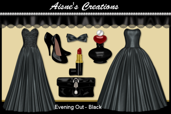 Print on Demand: Evening out - Black Graphic Objects By Aisne