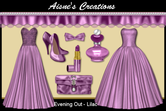 Print on Demand: Evening out - Lilac Graphic Objects By Aisne
