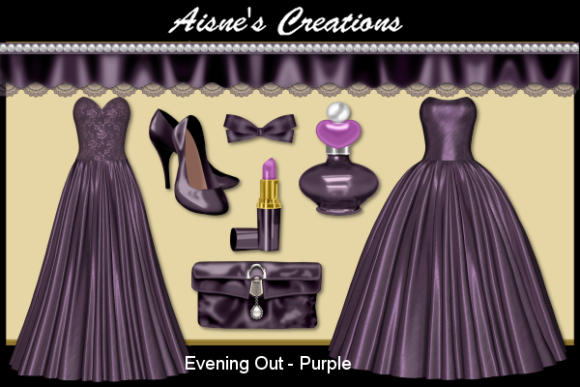 Print on Demand: Evening out - Purple Graphic Objects By Aisne - Image 1