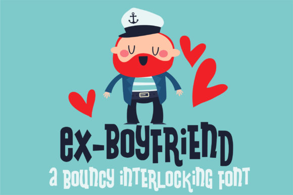 Print on Demand: Ex-Boyfriend Display Font By Illustration Ink