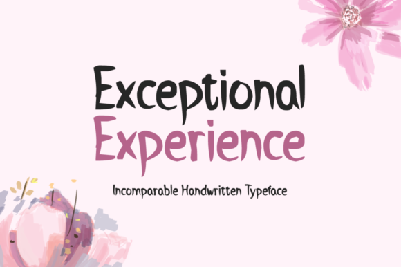 Exceptional Experience Font By Imposing Fonts Image 1