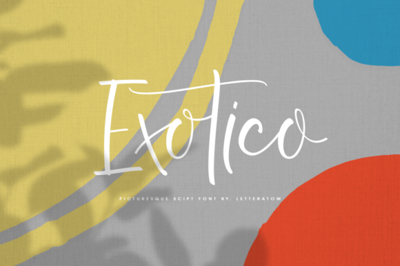 Print on Demand: Exotico Script & Handwritten Font By Letteratom - Image 1